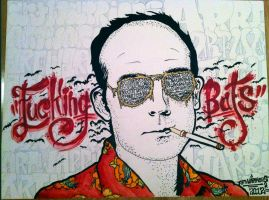 Hunter S Thompson by artwarriors