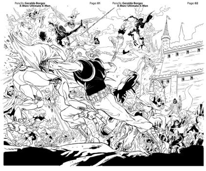 All New X-Men double page 01-02 by geraldohsborges