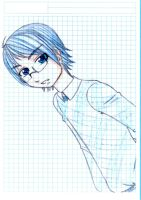 Nate-chan - drawn in blue by Hachi93