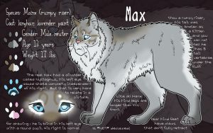 Character Sheet: Max the Manx by cloudstar-wolf