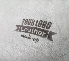 Photorealistic leather mock-up by Free-designs-net