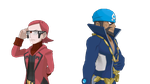 Team Aqua/magma Leaders by DylantheWEwolf
