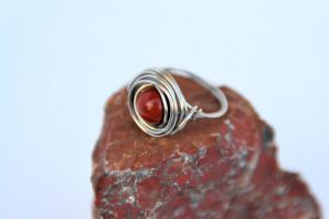 Ring: wrapped jaspis by MarlenaDream