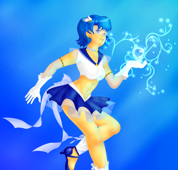 Sailor Mercury fan art by aciampal