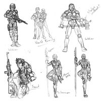 Fallout-like sketches by Tensen01