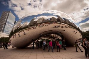 Chicago Bean 2 Color by RollingFishays