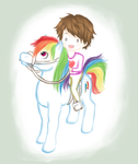 Kevin x Rainbow Dash by ShisaiTarou