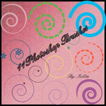 20 Brushes Photoshop: Spiral by IssLiTa