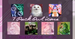 7x Owl Icons by LW-Lucy