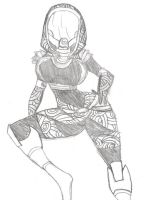 Tali Zorah Vas Normandy by K1-1YB0
