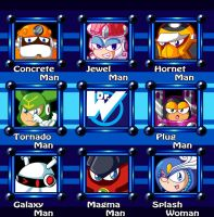 Megaman 9 Stage Select Remake by Galaxyman-da-Awesome