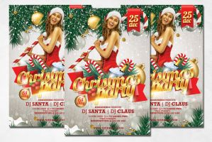 Christmas Party Flyer by PrintDesign