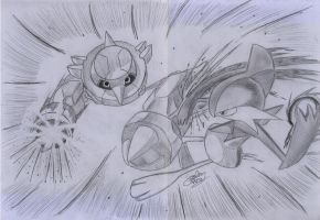 Pokemon Metang vs Gallade