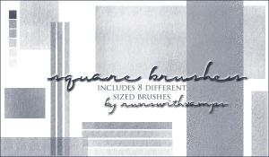 Square Brushes by runswithvamps