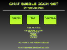 Chat Bubble Icon Set by terpmeister