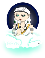 Bryn :: Commission :: Pixel Doll Headshot by CrypticGrin