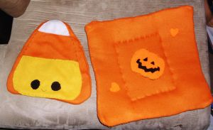halloween fleece mats by thesmurfet
