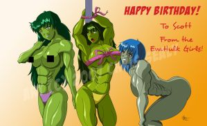 EvaHulk B-Day Piece by LunarDiaries