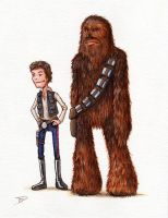 Han N' Chewie by thedanimator