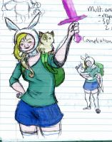 Fiona and cake Ecology sketche by QueenofMuttonchops