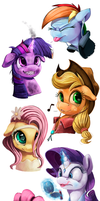 Teen Ponies_SpeedPaints by Tsitra360