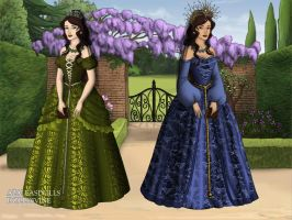 Princess Ana Maria and Iuliana Petronela by pispispis