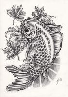 Koi fish tattoo design by Kattvalk