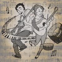 Music Couple by pixarjunkie