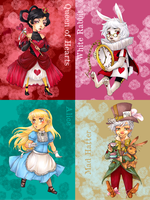 Alice in Wonderland Cards by Sadyna