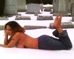 lounging in the snow by RusstheRab