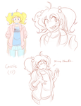 Teenybopper Cass doodles by theycallhimcake