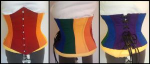 Commission: Rainbow Corset by Antiquity-Dreams