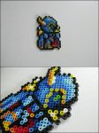 Final Fantasy 4 Golbez bead sprite by 8bitcraft