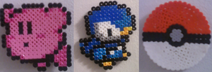 Kirby and Piplup Perler by Penji