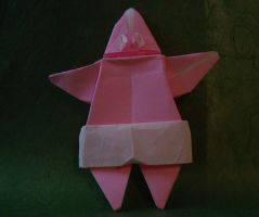 Origami Patrick Star by OrigamiFTW