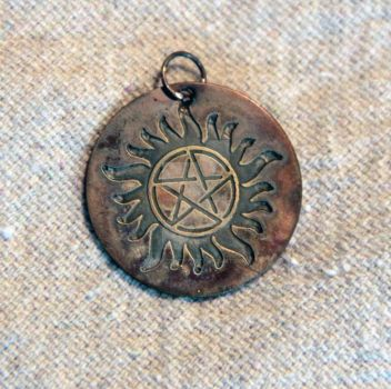Supernatural Anti-Possession Pendant in Sterling by spaceraptor