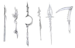 polearms and staves by megamarek