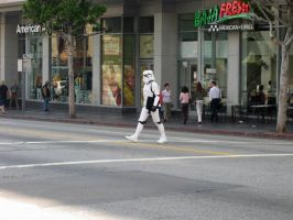 Stormtrooper on the Crosswalk by hitokirivader