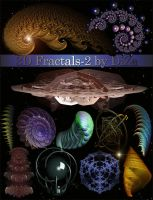 3D Fractals on transparent background - 2 by DiZa-74