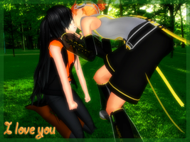 MMD- I love you [GisXLen] by TaniaVocaloid