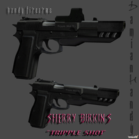 Sherry Birkin's Triple Shot by DamianHandy