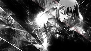 Claymore Black and White Wallpaper by skeptec