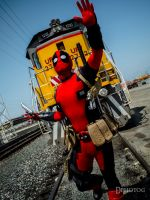Deadpool vs Train by Deadpool790