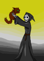 Death and the cat by Ciajka