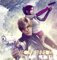 Leon Kennedy x Claire Redfield by Daphnecool