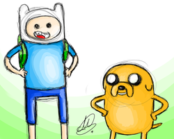 Request: Finn and Jake by Mariana-S
