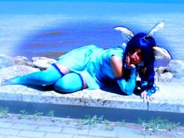 Vaporeon Resting by SonicPossible00