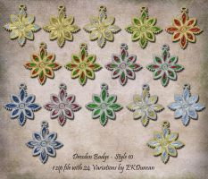 24 Variations of Dresden Badge Ornament - Style 10 by EveyD
