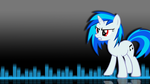 Angry Vinyl Scratch Wallpaper by TwopennyPenguin