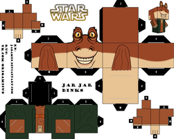 Jar Jar Binks Cubeecraft by JagaMen